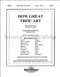 How Great Thou Art - orchestra (score & parts)