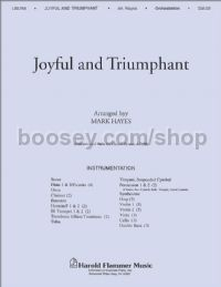 Joyful and Triumphant - orchestration (score & parts)