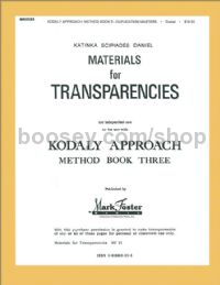 Kodály Approach - Method Book 3 (Transparencies)