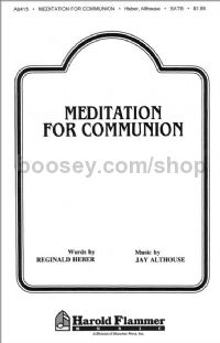 Meditation for Communion for SATB a cappella