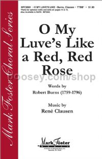 O My Luve's Like a Red, Red Rose for TTBB choir
