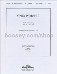 Only Worship - guitar, bass & drums (set of parts)