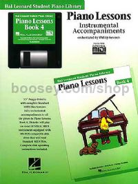 Hal Leonard Student Piano Library: Piano Lessons Instrumental Accompaniments 4 (General MIDI)