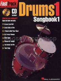 Fast Track Drums 1 Songbook (Book & CD)