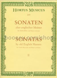 Sonatas by English Masters Book 2 for treble recorder & piano