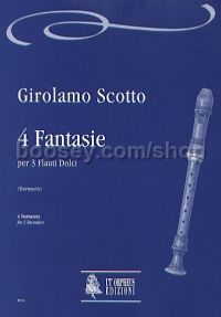 4 Fantasias for 3 Recorders (score & parts)