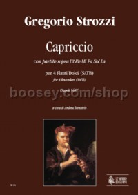 Capriccio con partite sopra Ut Re Mi Fa Sol La for 4 Recorders (SATB) (score & parts)