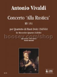 Concerto 'Alla Rustica' RV 151 for Recorder Quartet (SATGb) (score & parts)