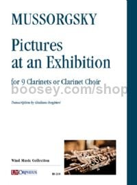Pictures at an Exhibition for 9 Clarinets or Clarinet Choir (set of parts)