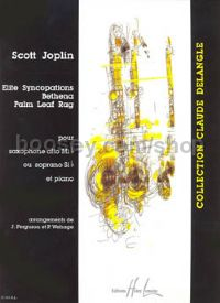 Elite syncopations / Bethena / Palm Leaf Rag - alto or soprano saxophone & piano