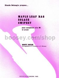 Maple Leaf Rag / Solace / Swipesy for Eb saxophone & piano