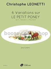 6 Variations sur Le Petit Poney (Piano)