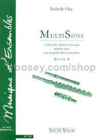 MultiSons Vol.B - flute ensemble (3-4 flutes) (set of parts)