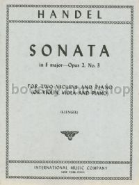 Sonata F Major Op. 2 No. 3