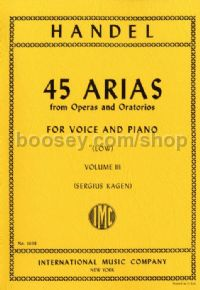 45 Arias Vol. 3 (Low Voice)