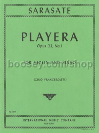 Playera Op. 23/1 Violin & piano