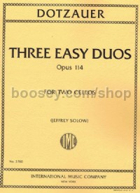 Three Easy Duos (Two Cellos)