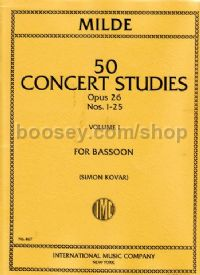 Concert Studies, Op. 26, Vol. 1