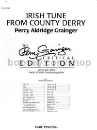 Irish Tune from County Derry Wind Band Score