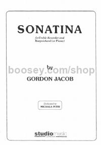 Sonatina for Treble Recorder