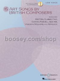 15 Art Songs by British Composers: Low Voice (Book & CD)
