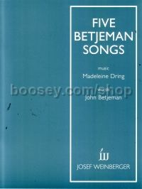 5 Betjeman Songs (voice/piano)