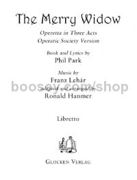 Merry Widow amateur libretto