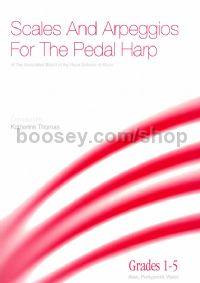 ABRSM Scales & Arpeggios for pedal harp (Grades 1-5)