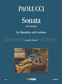 Sonata in G Major for Mandolin & Continuo (score & parts)