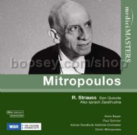 Mitropoulos conducts: Don Quixote Op 35/Also sprach Zarathrustra Op 30 (Medici Masters Audio CD)