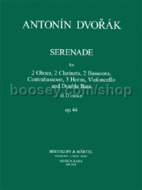Serenade in D minor Op. 44 for 10 winds, cello & double-bass (set of parts)