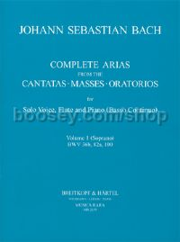 Complete Arias, Vol. 1 for soprano, flute & piano