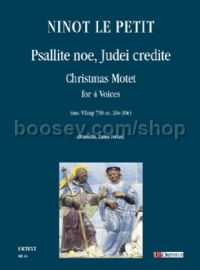Psallite noe, Judei credite. Christmas Motet (ms. VEcap 758 cc. 26v-30r) for 4 Voices
