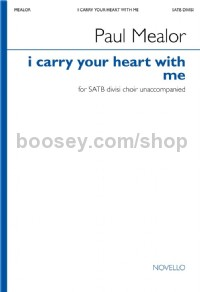 i carry your heart with me (SATB)