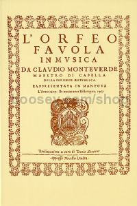 L'Orfeo, Favola In Musica (Mixed Voices & Orchestra)