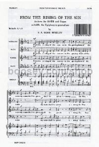 From The Rising of the Sun (SATB)