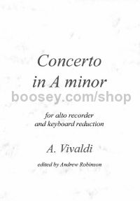 Concerto in A minor RV108 (alto recorder & piano)