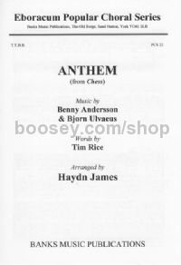 Anthem (from Chess) (TTBB & Piano)