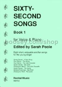 Sixty-Second Songs Book 1 (Voice & Pian)