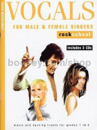 Rockschool Companion Guide - Vocals For Male And Female Singers (Book & 3CDs)