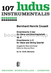 Divertimento in C for Oboe and String Quartet, Op. 9 - Version for Oboe and Piano