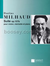 Suite, op. 157b - clarinet, violin & piano (score & parts)