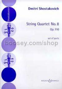 String Quartet No.8 in C minor Op 110 (set of parts)