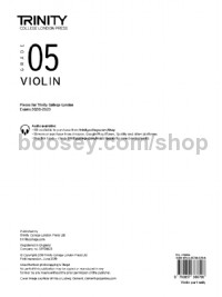 Violin Exam Pieces 2020–2023: Grade 5 (part only)