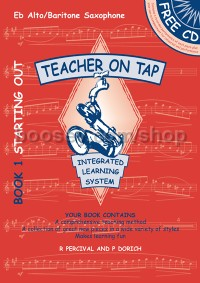 Teacher on Tap (Book 1 + CD) - Alto/Baritone Saxophone