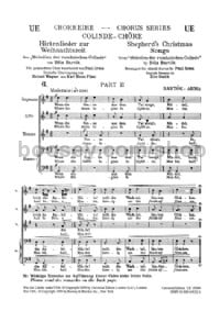 Shepherd's Christmas Songs (SATB)
