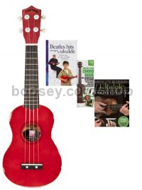 Ukulele Bundle: Special Offer Pack (Red)