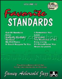 Volume 22: 13 Favourite Standards (Book & CD) (Jamey Aebersold Jazz Play-along)