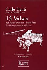 15 Valses for Flute (Violin) & Piano (1998) (score & parts)