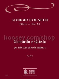 Gherardo e Gaietta for Solo, Choir & Orchestra (score)